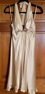 Nwt Elegant silk dress with bead detail